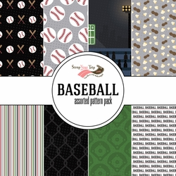 Baseball Assorted 12 x 12 Paper Pack