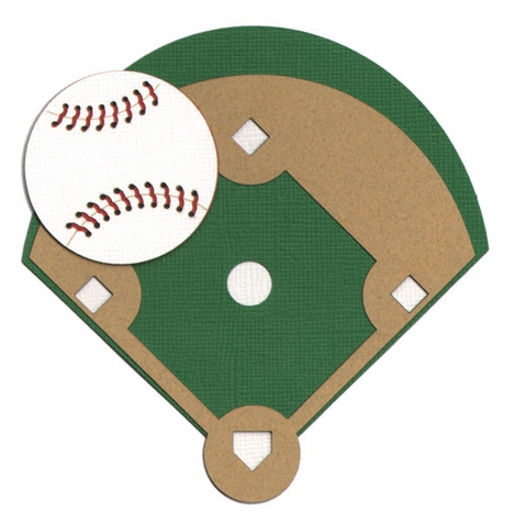 2SYT Baseball Field And Ball Laser Die Cut