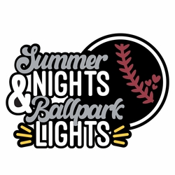 Baseball: Summer Nights and Ballpark Lights Laser Die Cut