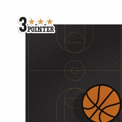 Basketball: 3 Pointer 2 Piece Laser Die Cut Kit