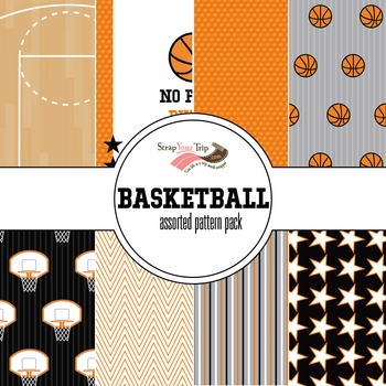 Basketball Assorted 12 x 12 Paper Pack