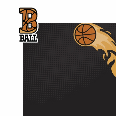 Basketball: B Ball 2 Piece Laser Die Cut Kit