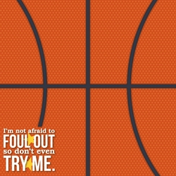 Basketball: Foul 12 x 12 Paper