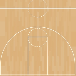 Basketball: Free Throw 12 x 12 Paper