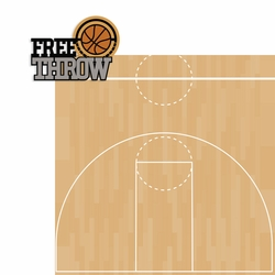 Basketball: Free Throw 2 Piece Laser Die Cut Kit