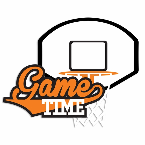 Basketball: Game Time Laser Die Cut