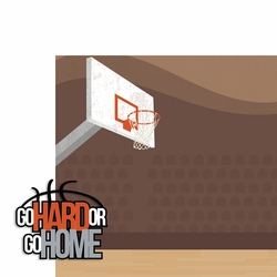 Basketball: Go Hard 2 Piece Laser Die Cut Kit
