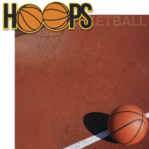 Basketball: Hoops 2 Piece Laser Die Cut Kit