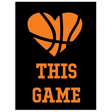 Basketball: Love this Game Laser Die Cut