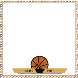 Basketball: Swish 12 x 12 Paper
