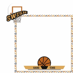 Basketball: Swish 2 Piece Laser Die Cut Kit