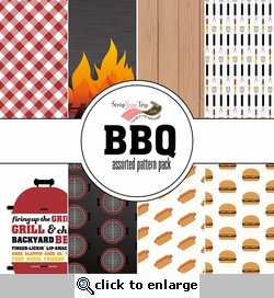 BBQ Assorted 12 x 12 Paper Pack