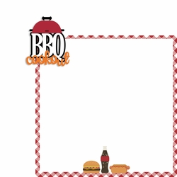 BBQ: BBQ Cookout 2 Piece Laser Die Cut Kit
