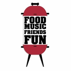 BBQ: Food Music Friends Fun Laser Die Cut