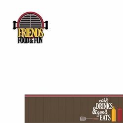 BBQ: Friends Food Fun 2 Piece Laser Die Cut Kit