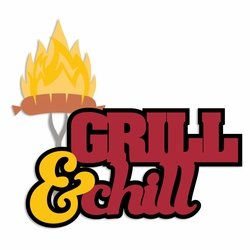 BBQ: Grill and Chill Laser Die Cut