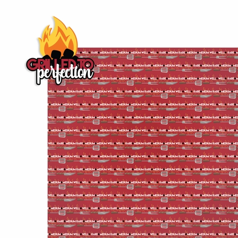 BBQ: Grilled to perfection 2 Piece Laser Die Cut Kit