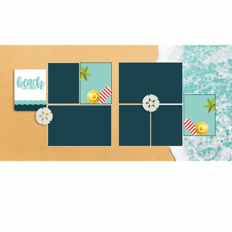 Beach Get Away 2 Page Layout Kit