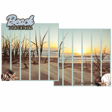 Beach Memories Double Page Layout Kit