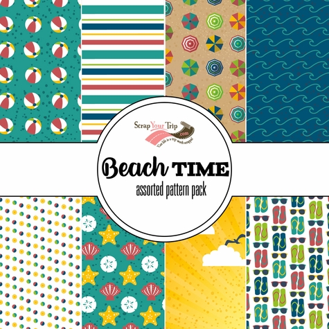 Beach Time Assorted 12 x 12 Paper Pack