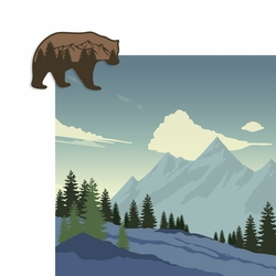 Bear and Mountain 2 Piece Laser Die Cut Kit