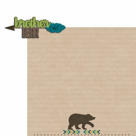 2SYT Bear Tribe: Brother Bear 2 Piece Laser Die Cut Kit
