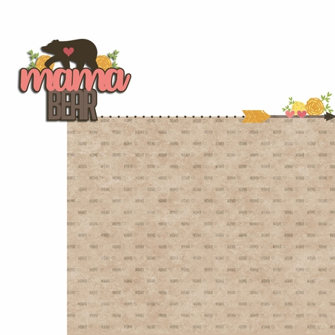Bear Tribe: Mama Bear 2 Piece Laser Die Cut Kit