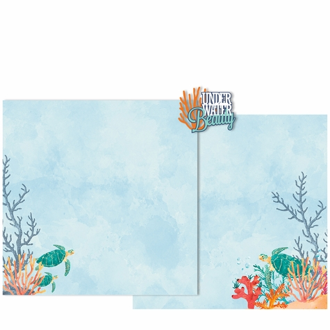 Beauty Sea Turtles Double Page Layout Kit