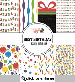Best Birthday Assorted 12 x 12 Paper Pack