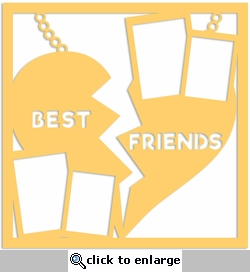 Best Friend: Best Friend Necklace 12 x 12 Overlay Laser Die Cut