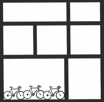 Bicycle 12 x 12 Overlay Laser Die Cut
