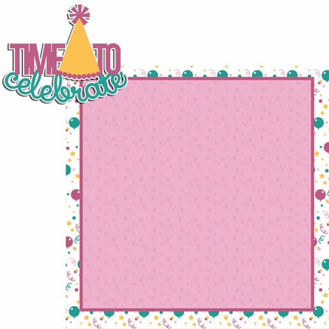 Big Wish: Pink Time to Celebrate 2 Piece Laser Die Cut Kit