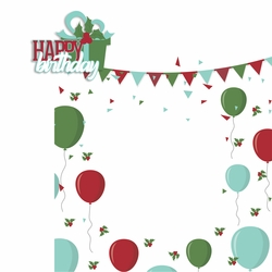 Birthday Month: December 2 Piece Laser Die Cut Kit
