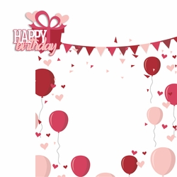 Birthday Month: February 2 Piece Laser Die Cut Kit