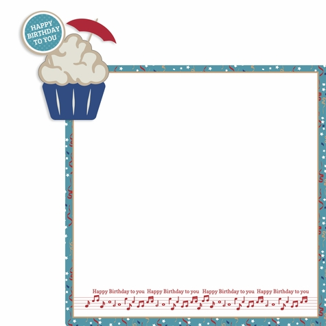 Birthday Months: August 2 Piece Print and Cut Kit