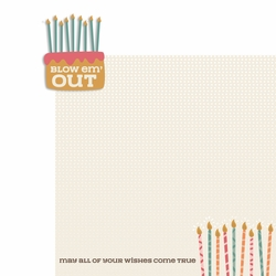 Birthday Wishes: Blow em' out 2 Piece Laser Die Cut Kit
