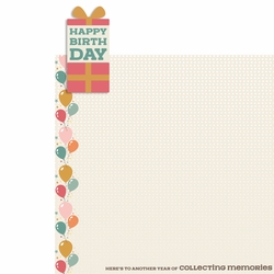 Birthday Wishes: Happy Birthday 2 Piece Laser Die Cut Kit
