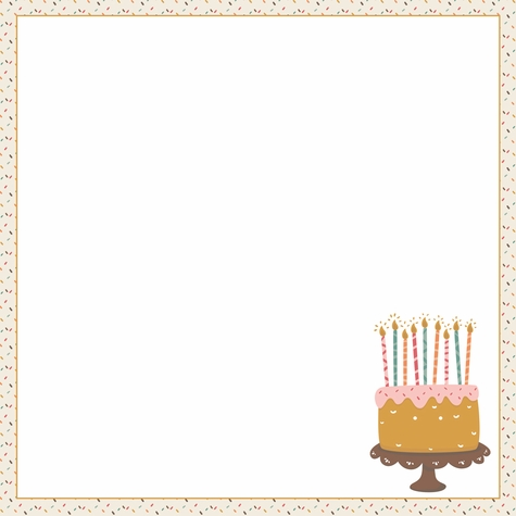 Birthday Wishes: Lost Count 12 x 12 Paper