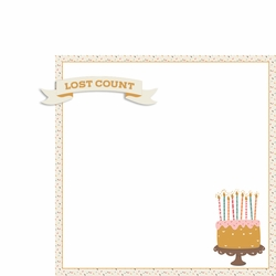 Birthday Wishes: Lost Count 2 Piece Laser Die Cut Kit