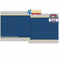 Blue Paw Patrol Birthday 3 Piece Laser Die Cut Kit