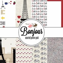 Bonjour Assorted 12 x 12 Paper Pack