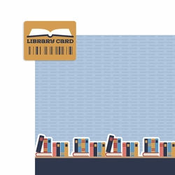 Book Lover: Library Card 2 Piece Laser Die Cut Kit