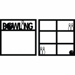 Bowling Double 12 x 12 Overlay Laser Die Cut