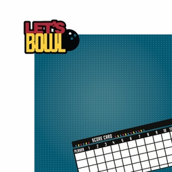 Bowling: Let's Bowl 2 Piece Laser Die Cut Kit