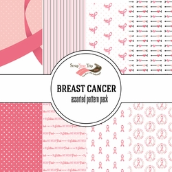 Breast Cancer Assorted 12 x 12 Paper Pack