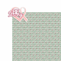 Breast Cancer: Be Strong 2 Piece Laser Die Cut Kit