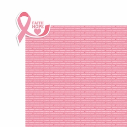 Breast Cancer: Faith Hope 2 Piece Laser Die Cut Kit