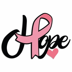 Breast Cancer: Hope Laser Die Cut