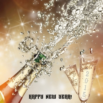 Bringing in the New Year: Champagne Glasses Custom 12 x 12 Paper