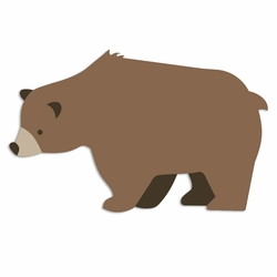 Brown Bear Laser Die Cut